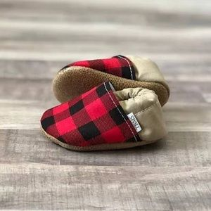 buffalo plaid moccasin booties